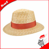 Chapéu bonito de palha do trigo do chapéu de Fedora