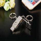Изготовленный на заказ привод USB 2.0 ключевой цепи шарнирного соединения металла логоса внезапный