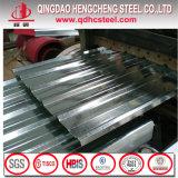 Feuille galvanisée de fer ridée par métal de fer pour la toiture