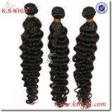 K.S 가발 100% Malaysian 머리 연장 자연적인 사람의 모발
