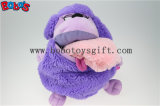 Big Mouth Bos1217를 가진 공장 Direct Sale Purple Plush Sheep Doll Toy Backpack