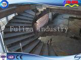 Pintado o galvanizado Estructura de acero de luz de escalera / escalera por un edificio (ST-003)