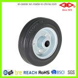roda industrial de borracha preta do rodízio de 75mm (L110-11D075X25)