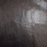 真黒衣服のための浮彫りにされた総合的なPUののどの革