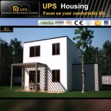 Nueva casa prefabricada bien acabada de la azotea plana del diseño para la familia