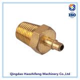 Conector de pieza mecanizada CNC usado para componentes de latón