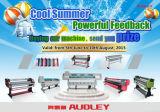 Impresora de 3,2 m (10,5 pies), impresora Eco-Solvente, puerta de salida, interior, cabezal de impresión micro-piezo Adl-H3200
