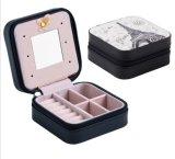 8 Farben-wahlweise freigestellter eleganter und moderner Schmucksachen Kasten für Damen und Freundinnen, reisender Schmucksache-Kasten