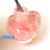 Бутылка маникюра стеклоизделия формы утки цветастая