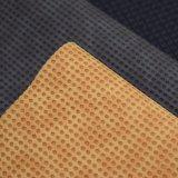 Couro gravado redondo do plutônio da cor dobro, couro Textured do saco do falso