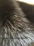 擬似ミンクの毛の黒のミンクの模造毛皮のFaxuの毛皮