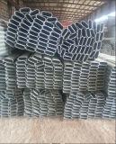 Baumaterial 60X30mm, 80X40mm heißes BAD galvanisiertes ovales Stahlrohr/Gefäß