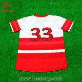 Healongのスポーツ・ウェアメンズ習慣カラー野球チームのユニフォームジャージー