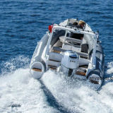 Liya 19ft los trabajos de rescate con el motor de barco bote inflable rígido
