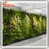 Grama sintética artificial da parede da planta da decoração da parede