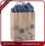 Les clients Papier d'emballage Eco d'esprit libre de marine ont réutilisé des sacs en papier de cadeau avec le traitement Twisted