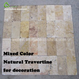 Wellest 자연적인 석회화 도와 벽 장식적인 패턴 벽 돌 도와를 포장하는 다중 색깔 지면