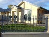 Jardim de aço revestido galvanizado segurança do pó de /Black da cerca do ferro feito que cerc com painéis do ferro