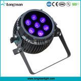 7PCS 14W 6in1 결혼식을%s 배터리 전원을 사용하는 LED 단계 점화