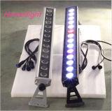 La lampada di vendita calda della lavata della parete dell'indicatore luminoso 14 la X 30W 4in1 RGB del LED esterna impermeabilizza