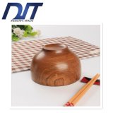 Bacia de arroz velha de madeira da pintura do jujuba natural amigável de Eco