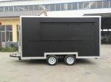 Carro móvel do alimento com a caravana do móbil do iogurte congelado
