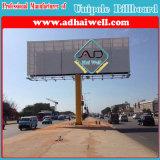 Двухместный Side Открытый Колонка Оцинкованная сталь Структура Реклама Billboard (W12 XH 4)