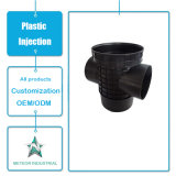 Peças industriais personalizadas Plastic Elbow Tee Pipe Fitting Plastic Injection