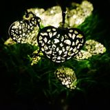 Luz solar da corda do coração da decoração de 12 diodos emissores de luz (RS1003)