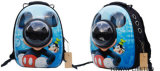 Cartoon Pet Carrier Painting Bright Space Dog Outdoor Bags