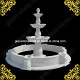 Sculptées fontaine en pierre avec piscine GS-F-133