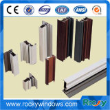 Perfil de aluminio de la ventana de la protuberancia del color de bronce