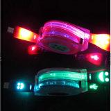 셀룰라 전화를 위한 다채로운 LED 가벼운 USB 케이블 데이터 충전기