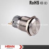 Interruttore di pulsante del metallo del RoHS del Ce (19mm)