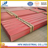 上塗を施してある波形鉄板の屋根ふきシートを着色しなさい