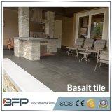Azulejos naturales chinos del basalto del negro de la piedra del basalto para la sala de estar