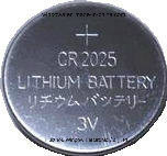 Batteria delle cellule del tasto del litio di Cr2025 3V