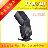 Flash de cámara digital inalámbrica OEM SL582c para DSLR de Canon