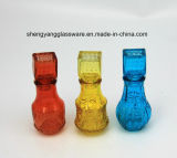 ガラスふたが付いているカラーガラスビンの/Spray小型カラーガラスビン