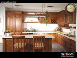 2017 Welbom best selling moderno Design de cozinha em madeira maciça