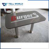 Le mobilier du restaurant de l'acrylique Surface solide noir Jeu de tables à manger