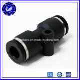 Aire plástico de las guarniciones neumáticas rápidas componentes neumáticas de los acopladores que ajusta el acoplador rápido