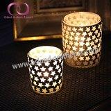 Qualitäts-Mosaik-Glas-Kerze-Halter-Kerze-Cup mit kleinen Sternen