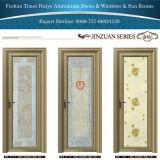 アルミニウム内部ドアの開き窓のドアの浴室のドア