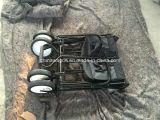 Vagão de dobramento da cubeta preta da tela da cor 600d