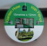 Venta caliente flexible de alta calidad trenzado reforzado de fibra de PVC colorido jardín manguera de agua
