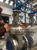 """14 de """" válvula de porta da engrenagem de Beverl do aço inoxidável Class300 CF8m"""