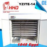 Un pollame automatico pieno delle 1848 uova Egg la macchina Yzite-14 dell'incubatrice
