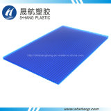 SGS Goedgekeurde Plastic Blad van de tweeling-Muur van het Polycarbonaat met UVBescherming