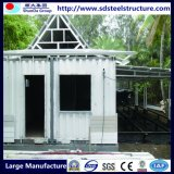 Casa de planta baja prefabricada estructural de acero soldada de la viga de H